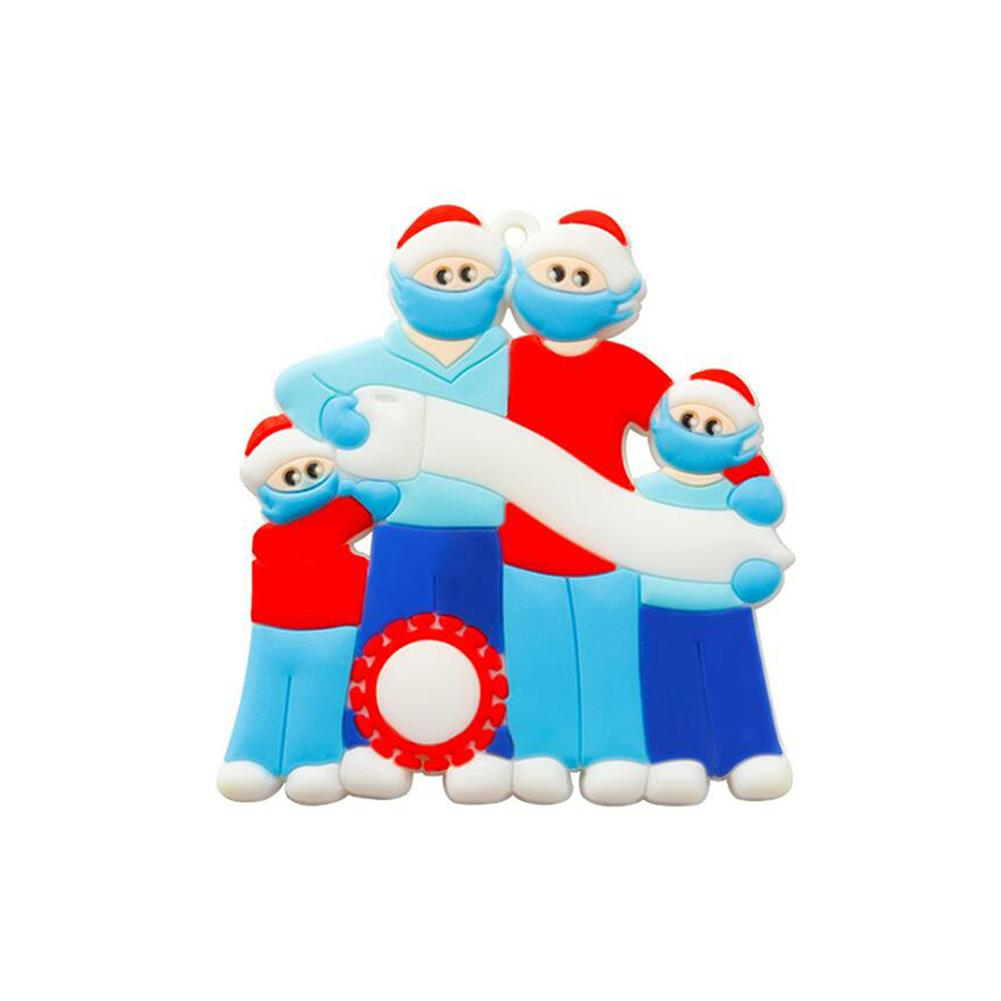 other-learning-office-supplies Christmas Tree Ornaments PVC Blue 2020 theme Family Members Christmas Pendant Gift Family Christmas Party Decoration HOB1773640 1