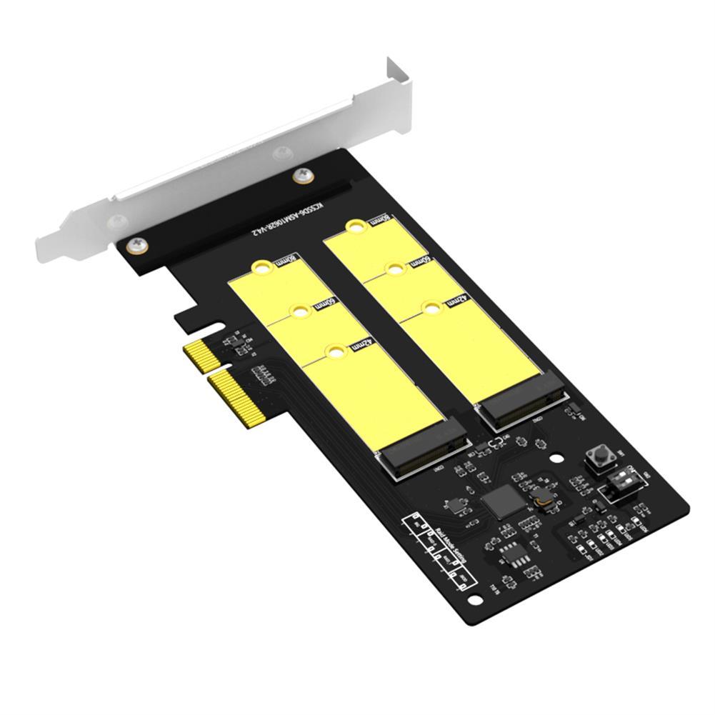 hdd-ssd-enclosures MAIWO RAID Dual Bay M.2 SSD PCIe Card for 2240 2260 2280 M.2 SATA SSD Hard Disk Enclusure MAIWO KC33D6 Plus HOB1773851 2 1