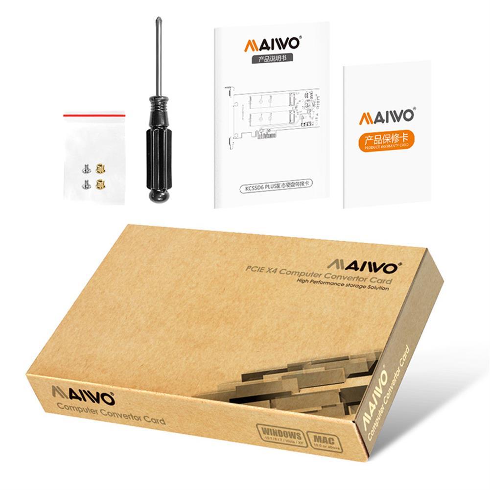 hdd-ssd-enclosures MAIWO RAID Dual Bay M.2 SSD PCIe Card for 2240 2260 2280 M.2 SATA SSD Hard Disk Enclusure MAIWO KC33D6 Plus HOB1773851 3 1