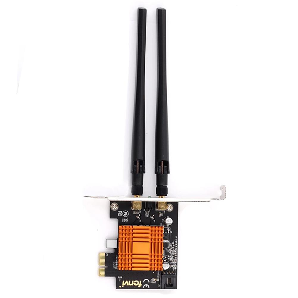 networking-adapters-antennas Comfast Dual Band 1200Mbps Wireless intel 802.ac Desktop PCIe 1X WiFi Adapter bluetooth 4.0 Network Card 1200Mbps FV-8802 HOB1773899 1 1