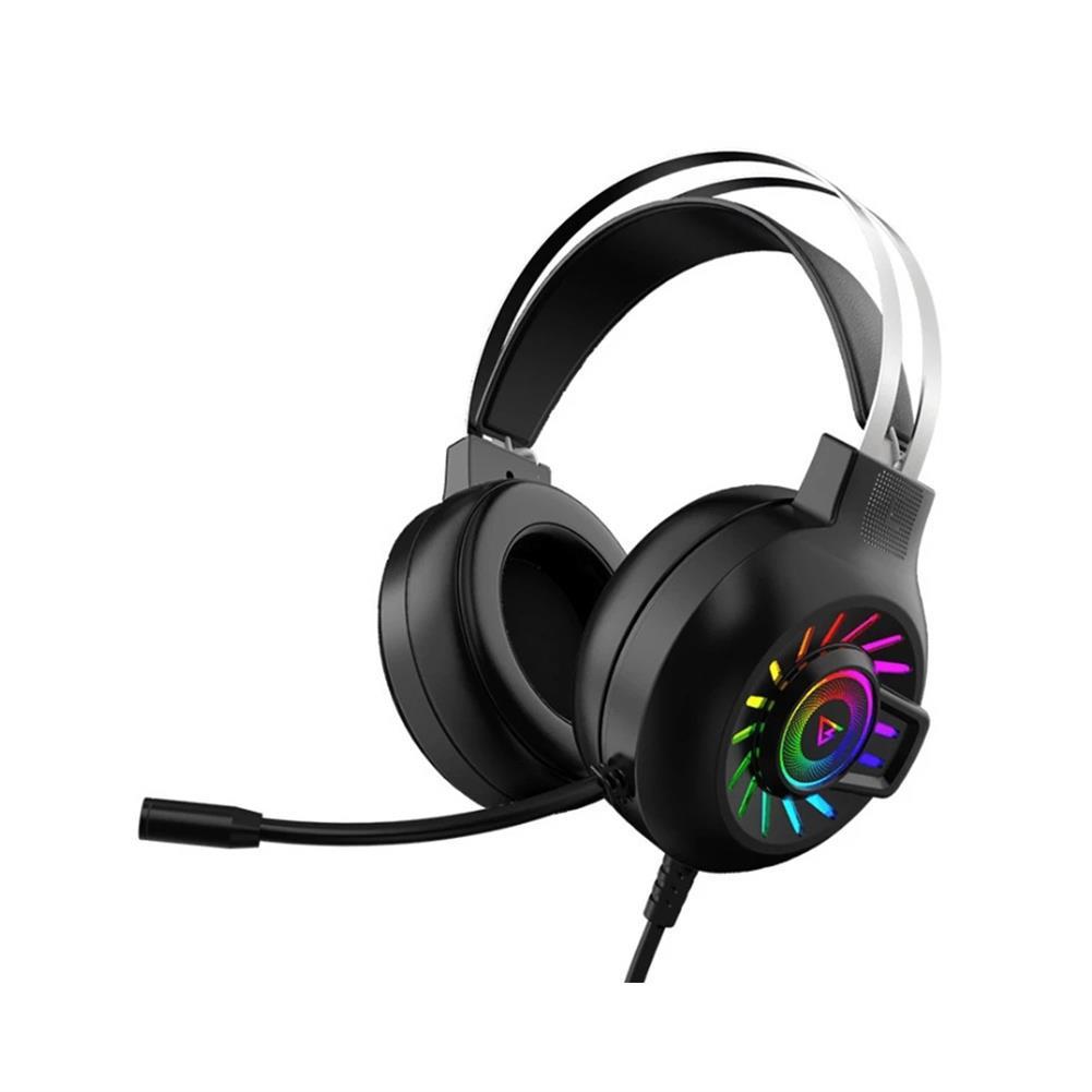 headphones WH H300 Gaming Headset 7.1 Virtual Surround Sound 50mm Unit RGB dynamic breathing Light Headphone Omni-directional Microphone HOB1773941 1
