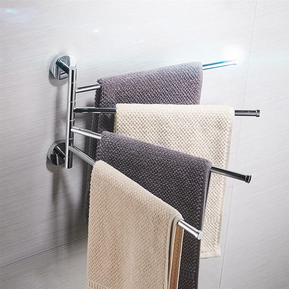 other-learning-office-supplies Bath Towel Rack Stainless Steel 2/3/4 Poles Movable Racks Bathroom Living Room Towel Cloth Holder Home Decoration HOB1774149 3 1