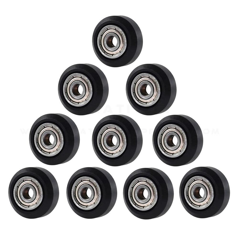 3d-printer-accessories Creativity 10PC Flat Type Openbuilds Plastic Wheel POM with Bearings Big Models Passive Round Wheel Ldler Pulley Gear Perlin Wheel for CR10 Ender 3 HOB1774448 1