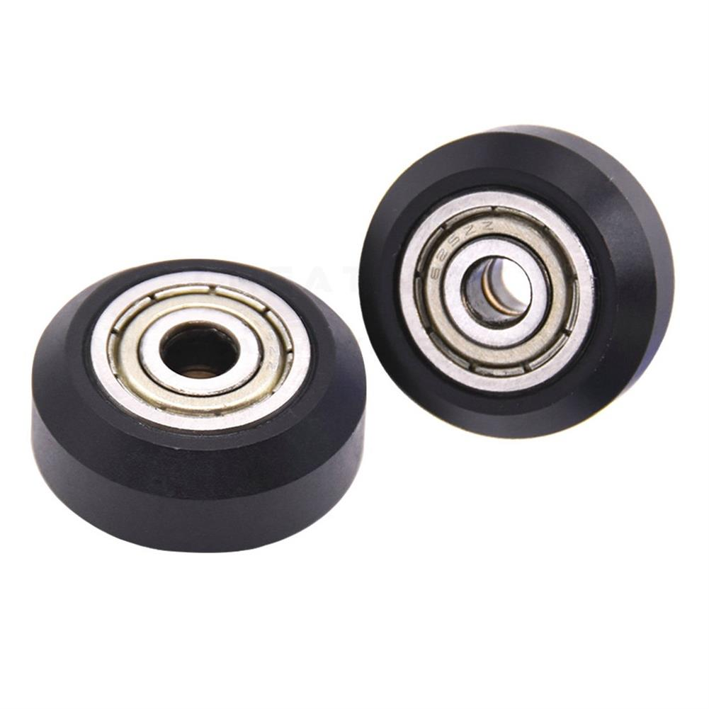 3d-printer-accessories Creativity 10PC Flat Type Openbuilds Plastic Wheel POM with Bearings Big Models Passive Round Wheel Ldler Pulley Gear Perlin Wheel for CR10 Ender 3 HOB1774448 3 1