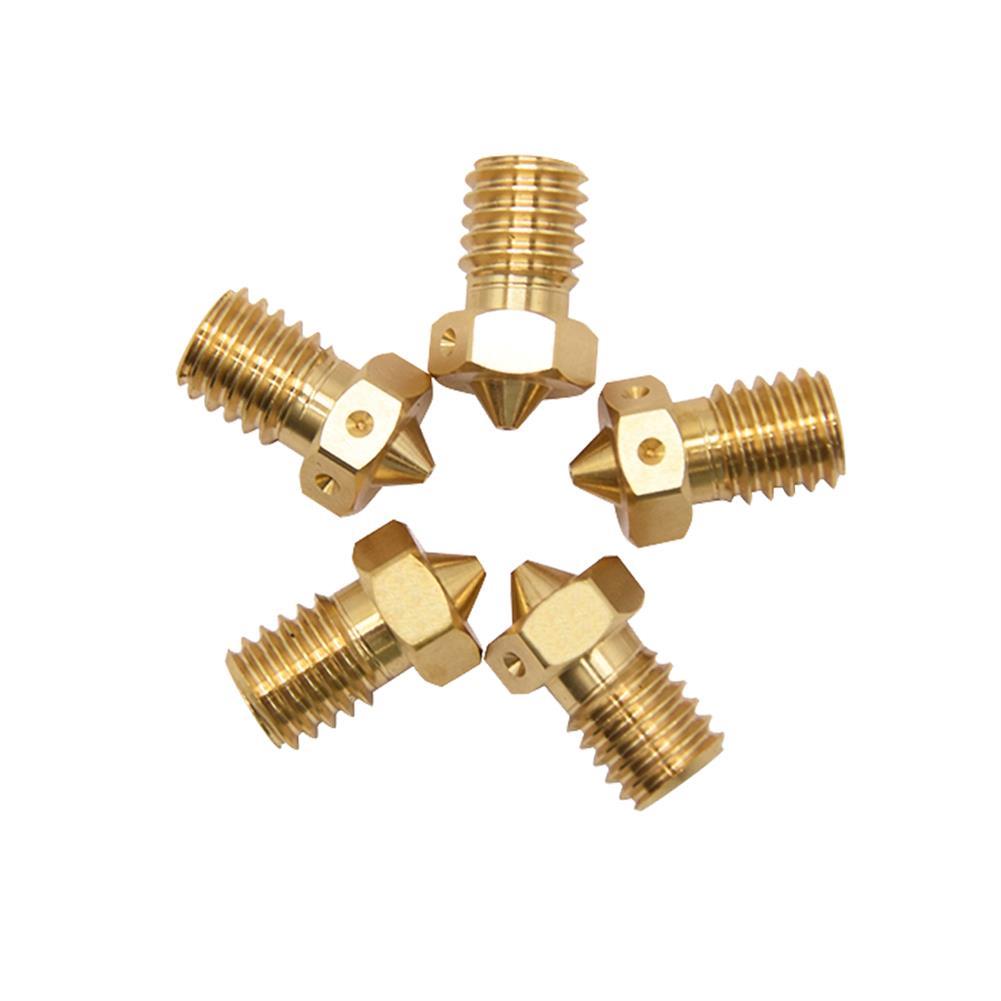 3d-printer-accessories Creativity 2Pcs Quality 3D Printer Nozzle V6 Nozzles for 3D Printers Hotend 3D Nozzle E3D Nozzles Titan J-head Extruder 1.75mm HOB1774463 1