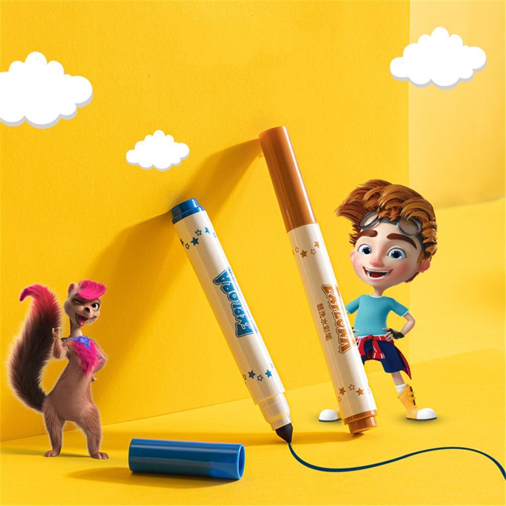 watercolor-paints Deli 12/24 Colors Watercolor Pen Set Art Marker Painting Pens Brush School Supplies Stationery Children Creative Gift HOB1774643 2 1