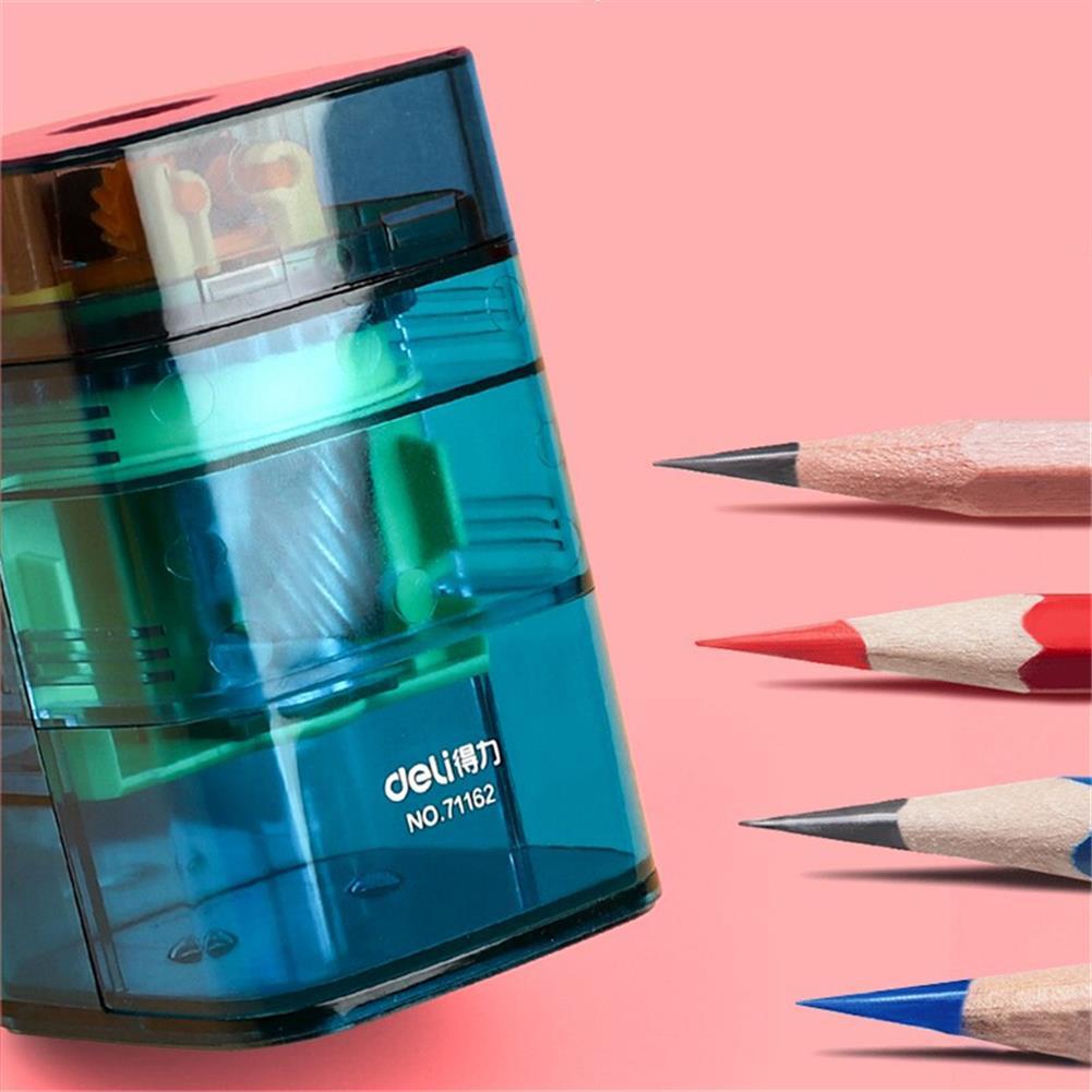 pencil-sharpener Deli 71162 Upper Pencil Sharpener Transparent Color Vertical Pen Feeding Automatic Core Breaking Pencil Sharpener for Kids HOB1774700 3 1