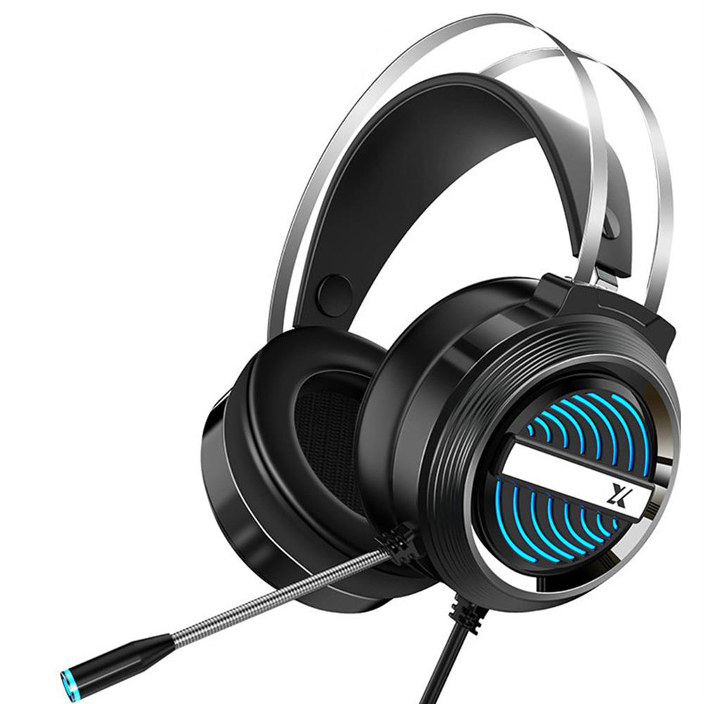 headphones Heir Audio X9 Gaming Headset 7.1Channerl 50mm Unit RGB Colorful Light 4D Surround Sound Ergonomic Design 360 Omnidirectional Noise Reduction Microphone HOB1774924 1
