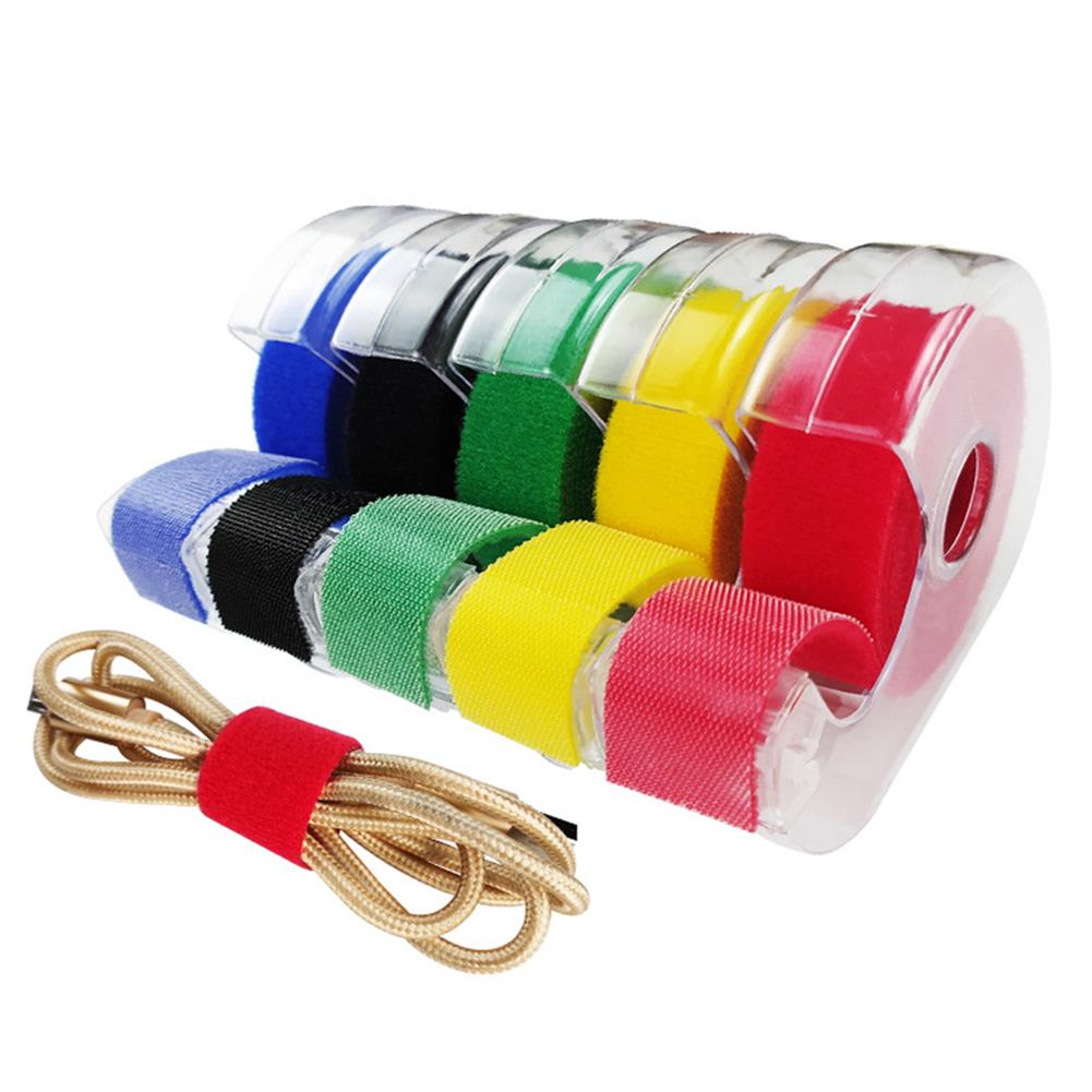 stationery-tape Line Management Tape Upgraded Tear-able Colorful with Hook Surface 2M Tape Headphone Mouse Power Cable Manegement Tape HOB1775136 1