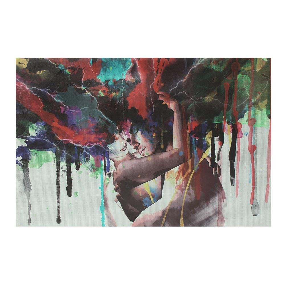 other-learning-office-supplies 30*45cm Canvas Painting Room Wall Abstract Color Couple Art Hanging Pictures Home Decoration Framed/Frameless HOB1776153 1