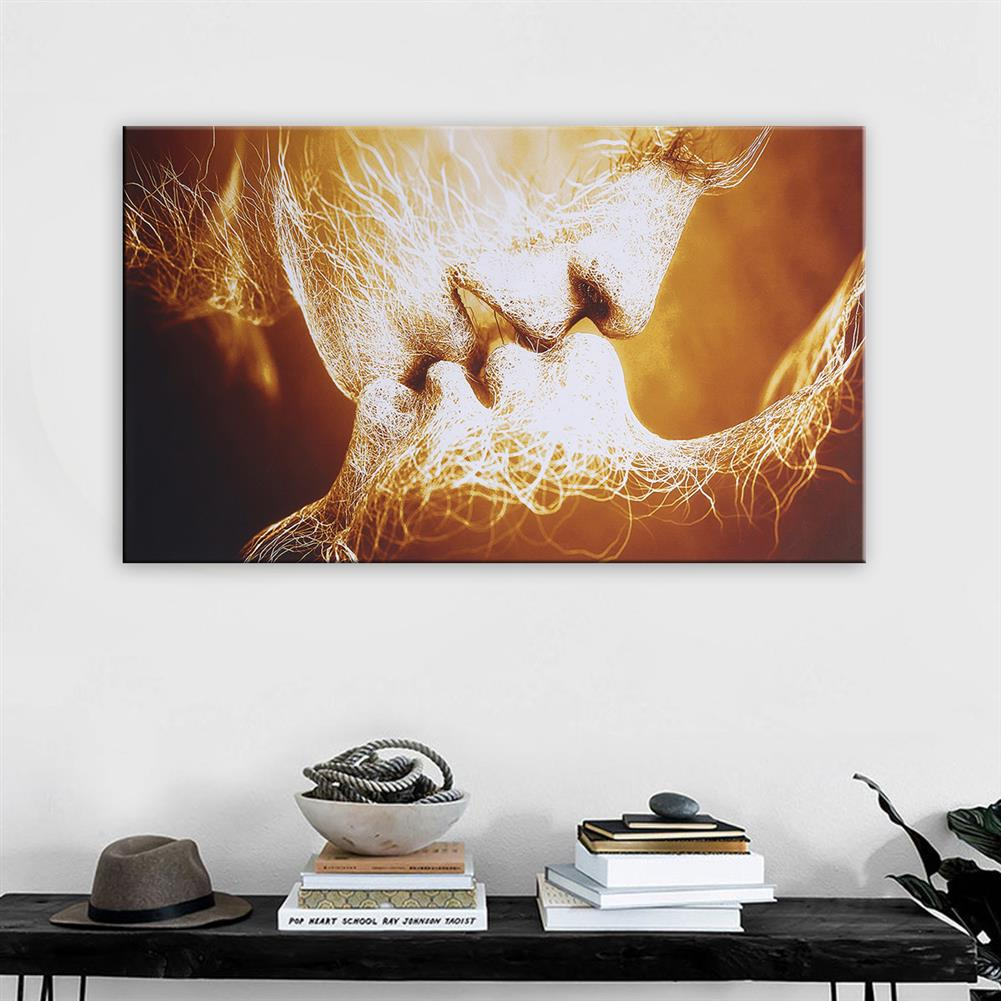 other-learning-office-supplies Canvas Print Painting Frameless Goldren Lver`s Kiss theme Canvas Painting Abstract Art Wall Hanging Tapestry for Home Decoration HOB1776506 3 1