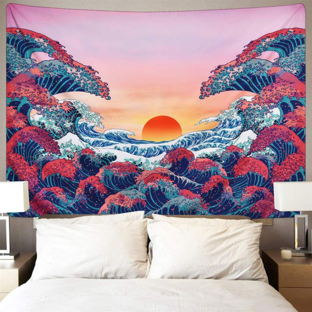 other-learning-office-supplies 3D Great Wave Sea Wall Hanging Blanket Home Decoration Big Polyester Ocean Wave Sunset Tapestry Living Room Ornament HOB1776631 1