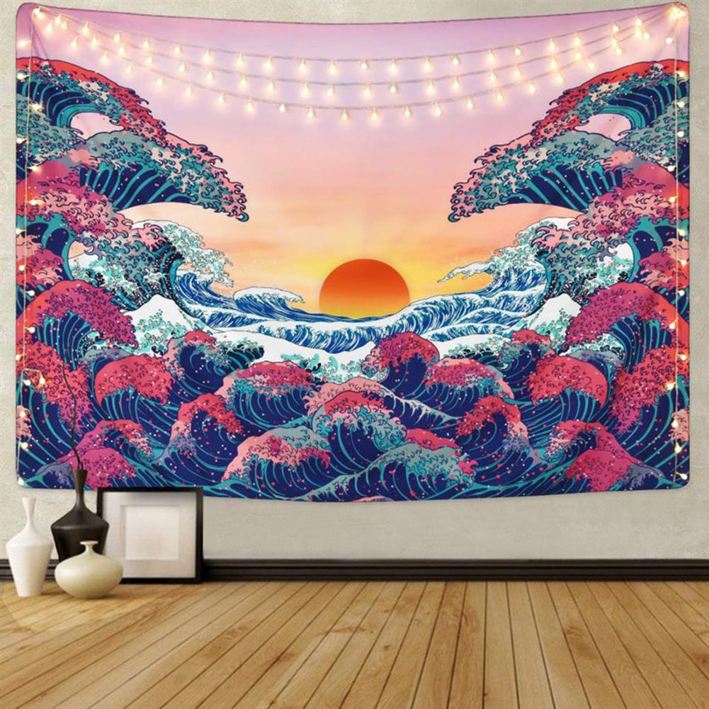 other-learning-office-supplies 3D Great Wave Sea Wall Hanging Blanket Home Decoration Big Polyester Ocean Wave Sunset Tapestry Living Room Ornament HOB1776631 1 1
