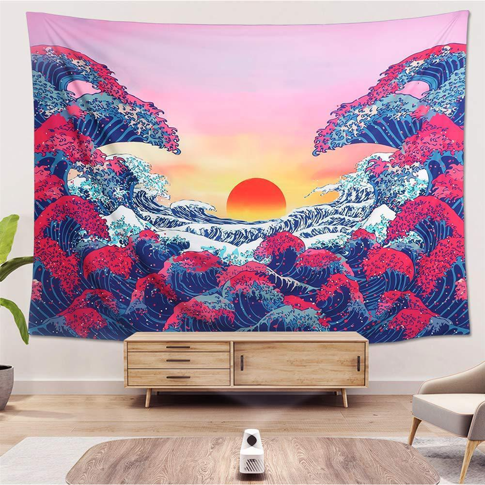 other-learning-office-supplies 3D Great Wave Sea Wall Hanging Blanket Home Decoration Big Polyester Ocean Wave Sunset Tapestry Living Room Ornament HOB1776631 2 1
