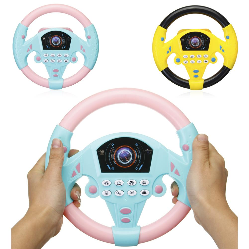 other-learning-office-supplies Children`s Simulated Sterring Wheel Toy Plastic Multifunctional Steering Wheel Children Early Education IQ Development Toy HOB1776678 1 1