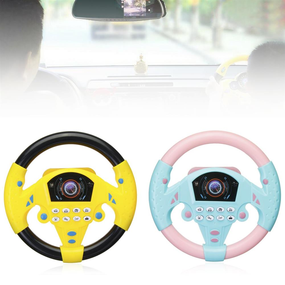 other-learning-office-supplies Children`s Simulated Sterring Wheel Toy Plastic Multifunctional Steering Wheel Children Early Education IQ Development Toy HOB1776678 2 1
