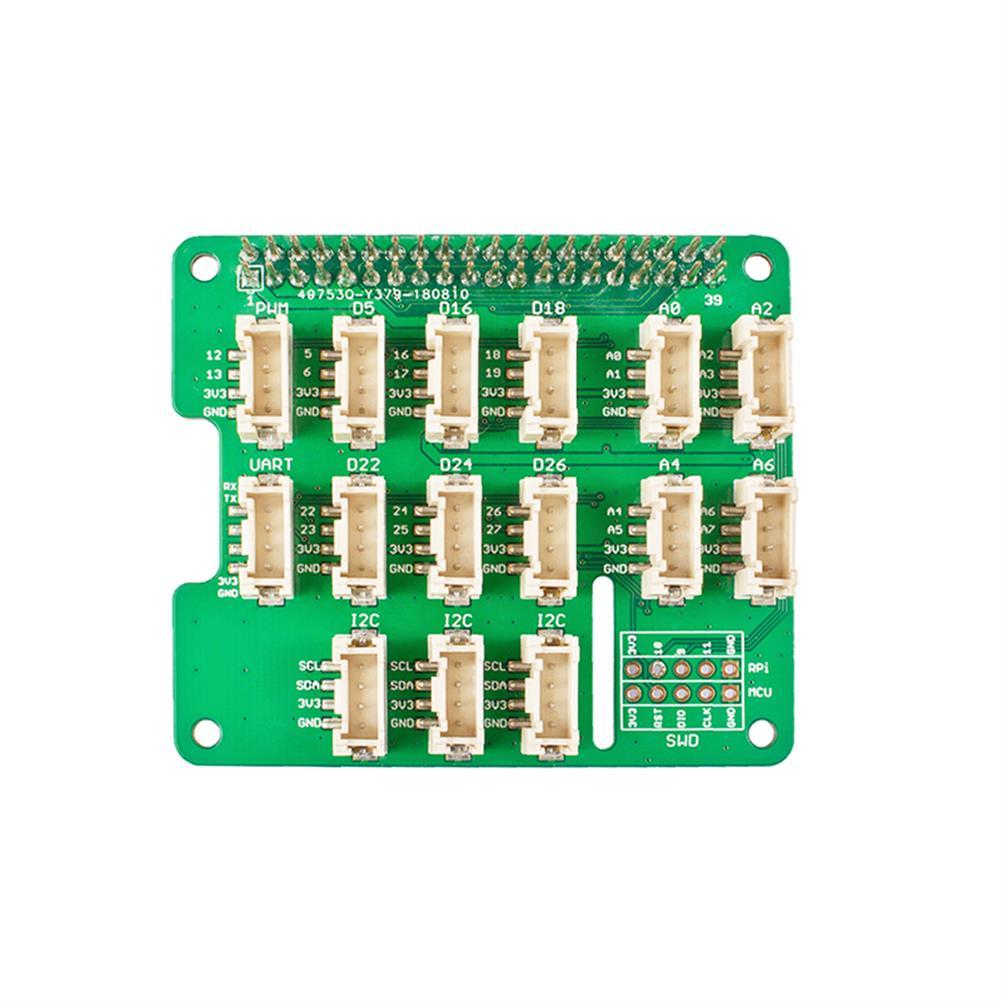 3d-printer-module-board Expansion Board for Grove Sensor MCU STM32 Grove Base Hat for Raspberry 2/3B/4/Zero HOB1777173 1 1