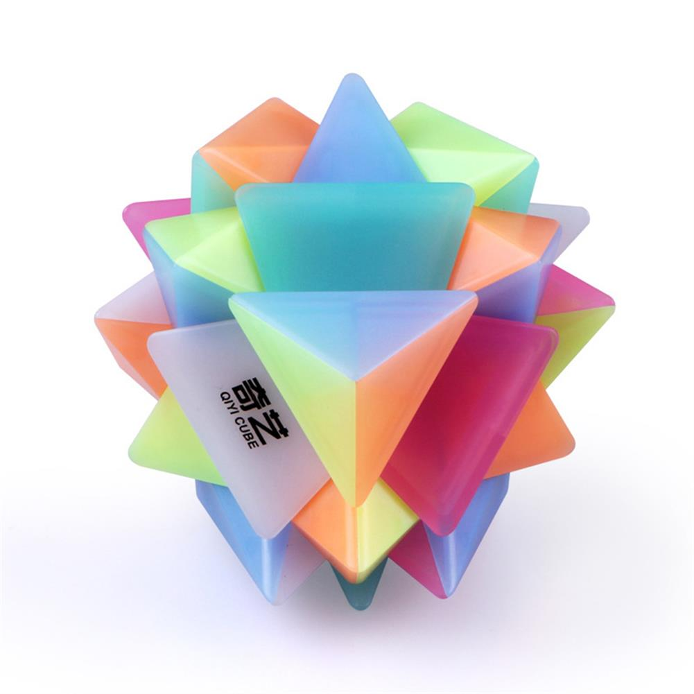 other-learning-office-supplies Qiyi 3*3*3 Jelly Magic Cube Special Shaped Puzzle Magic Speed Cube Professional Education Toys for Children HOB1777265 1