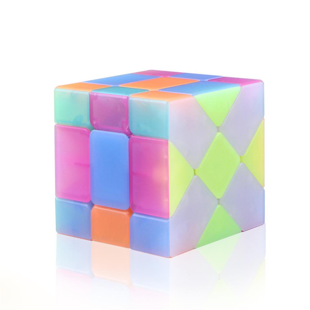 other-learning-office-supplies Qiyi 3*3*3 Jelly Magic Cube Special Shaped Puzzle Magic Speed Cube Professional Education Toys for Children HOB1777265 1 1