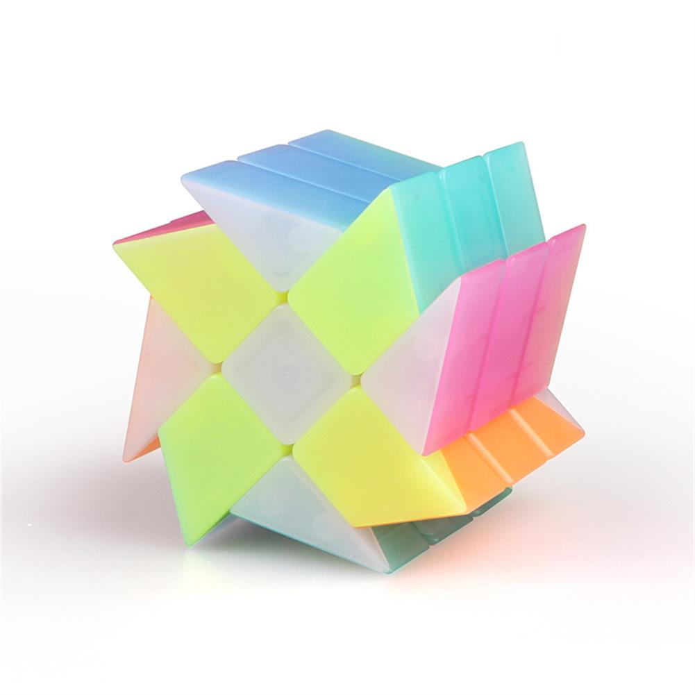 other-learning-office-supplies Qiyi 3*3*3 Jelly Magic Cube Special Shaped Puzzle Magic Speed Cube Professional Education Toys for Children HOB1777265 2 1