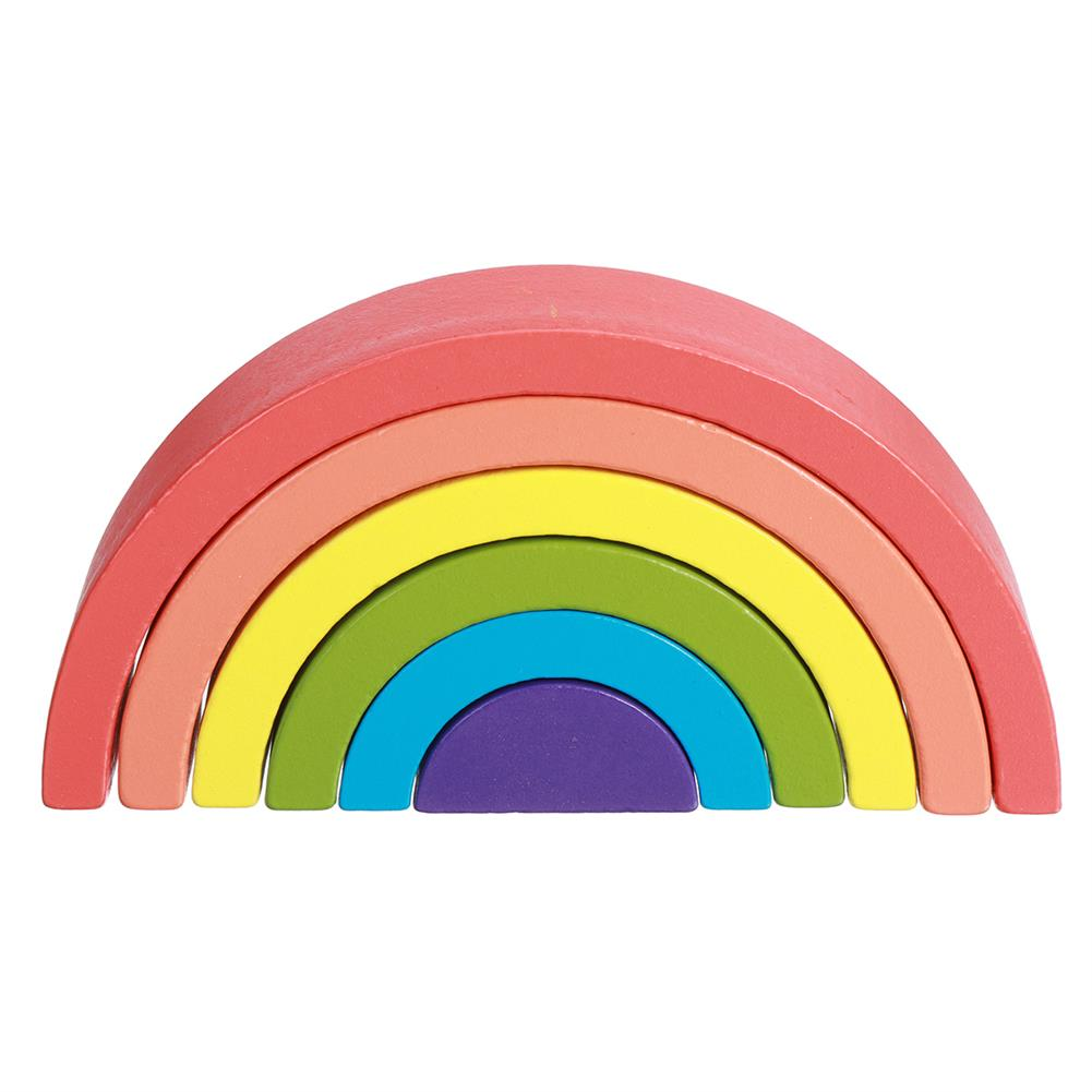 other-learning-office-supplies Rainbow Arched Building Block Combination Wooden Children's Educational Colorful Semicircle Building Block for Children Toy Gift HOB1777311 1 1
