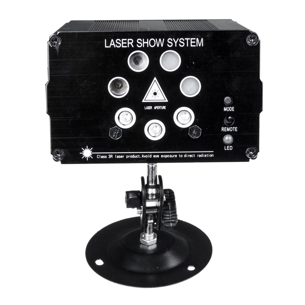 projector-lamp Laser Party Lights Aluminum 9W 7 Holes 120 Patterns Laser Lights with Remote Control for Stage Light Christmas Party Light HOB1777371 1 1