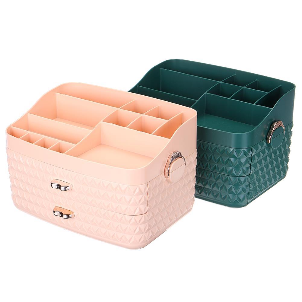 desktop-off-surface-shelves Dustproof Cosmetic Storage Box with Drawer Large Capacity Desktop Furnishings Organizer Home Desk Sundries Storage HOB1777438 1