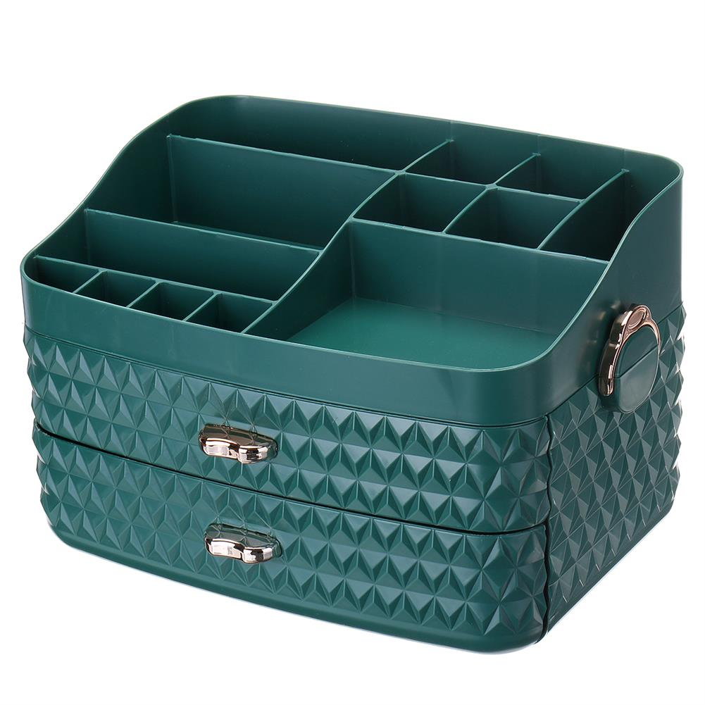 desktop-off-surface-shelves Dustproof Cosmetic Storage Box with Drawer Large Capacity Desktop Furnishings Organizer Home Desk Sundries Storage HOB1777438 3 1