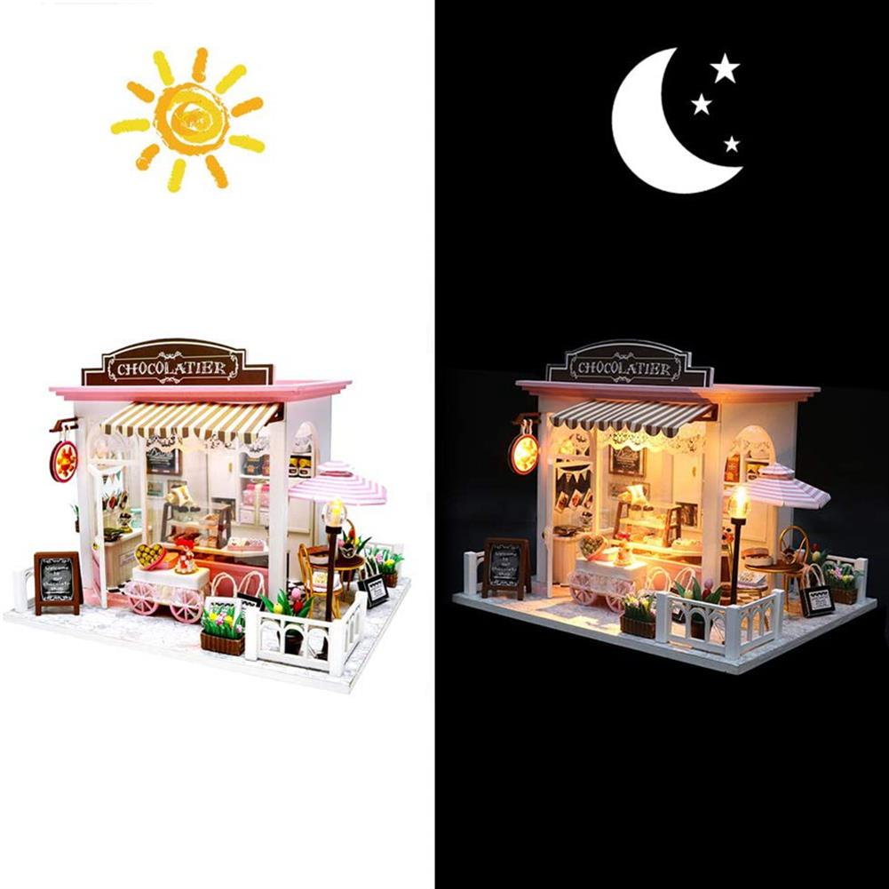 other-learning-office-supplies Handmade Wooden DIY House DIY Cabin with Lights for Home Decorating Lovers Anniversaries of Important Events Toy Gift HOB1777501 3 1