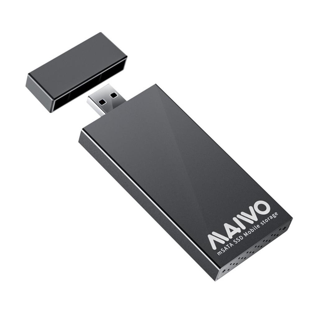 hdd-ssd-enclosures MAIWO USB3.0 to mSATA SSD Enclosure Plug and Play 5Gbps Aluminum Shell mSATA SSD Mobile Storage MAIWO K1642S HOB1777560 1 1