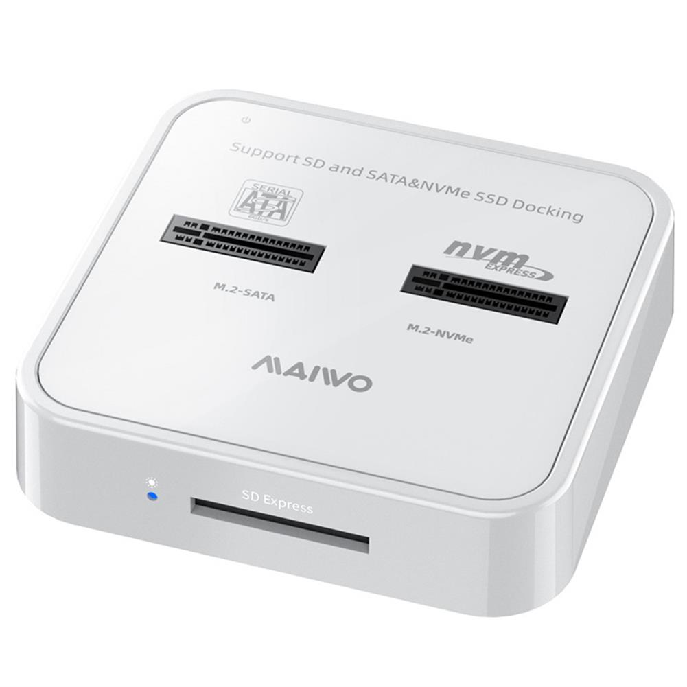 hdd-ssd-enclosures MAIWO NVMe SATA Dual Protocol M.2 SSD + SD Card Docking Station Up to 10Gbps Memory Card Reader with Type-C to C USB 3.1 GEN2 Cable HOB1777652 1