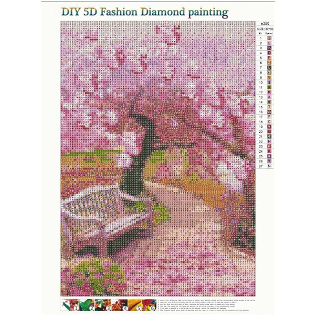 art-kit DIY 5D Diamond Drawing Flower Scene Diamond Embroidery Cross Stitch Full Round Drill Home Decor Creative Gift Frameless HOB1777869 1 1