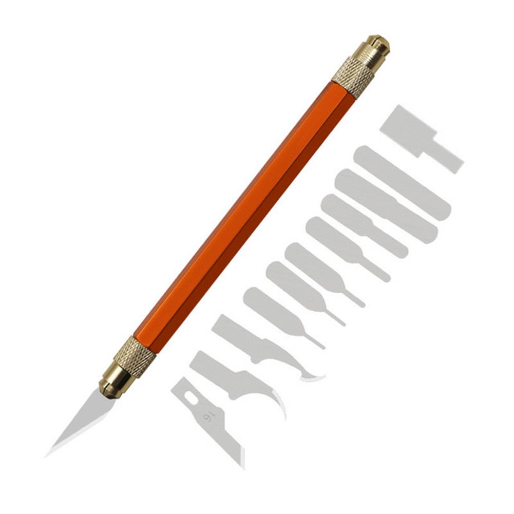 utility-knife 13Pcs Cutting Knife Set Aluminum Dual Head Knife Smartphone Repair IC Squeegee Plastic Scraper Flat Blade Laminating Cutter HOB1778026 1