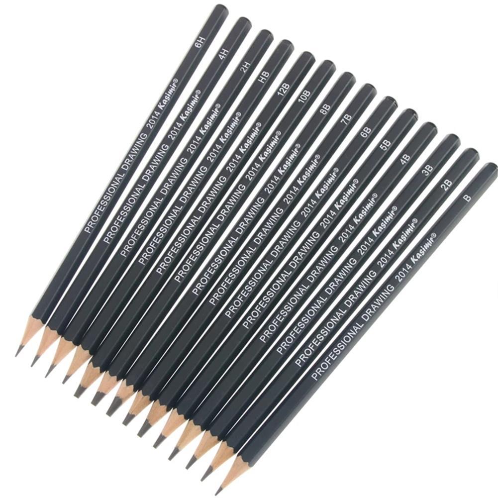 pencil Kasimir 14pcs/set Sketch Pencil Set 1B/2B/3B/4B/5B/6B/7B/8B/10B/12B/HB/2H/4H/6H Wooden Painting Pencil for Beginner Drawing HOB1778497 1 1