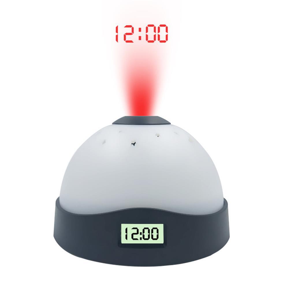 desktop-off-surface-shelves Creative Projection Alarm Clock Colorful Lights Electronic Alarm Clock Star Sky Night Light Bedside Home Table Decoration HOB1778625 2 1