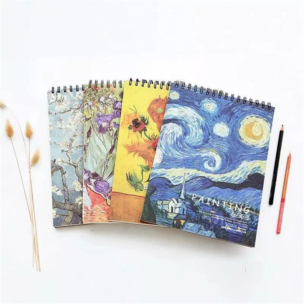 paper-notebooks A4 Sketch Book Blank Drawing Papers Art Painting Graffiti Color Book School Stationery Creative Gift for Childrens HOB1778683 1