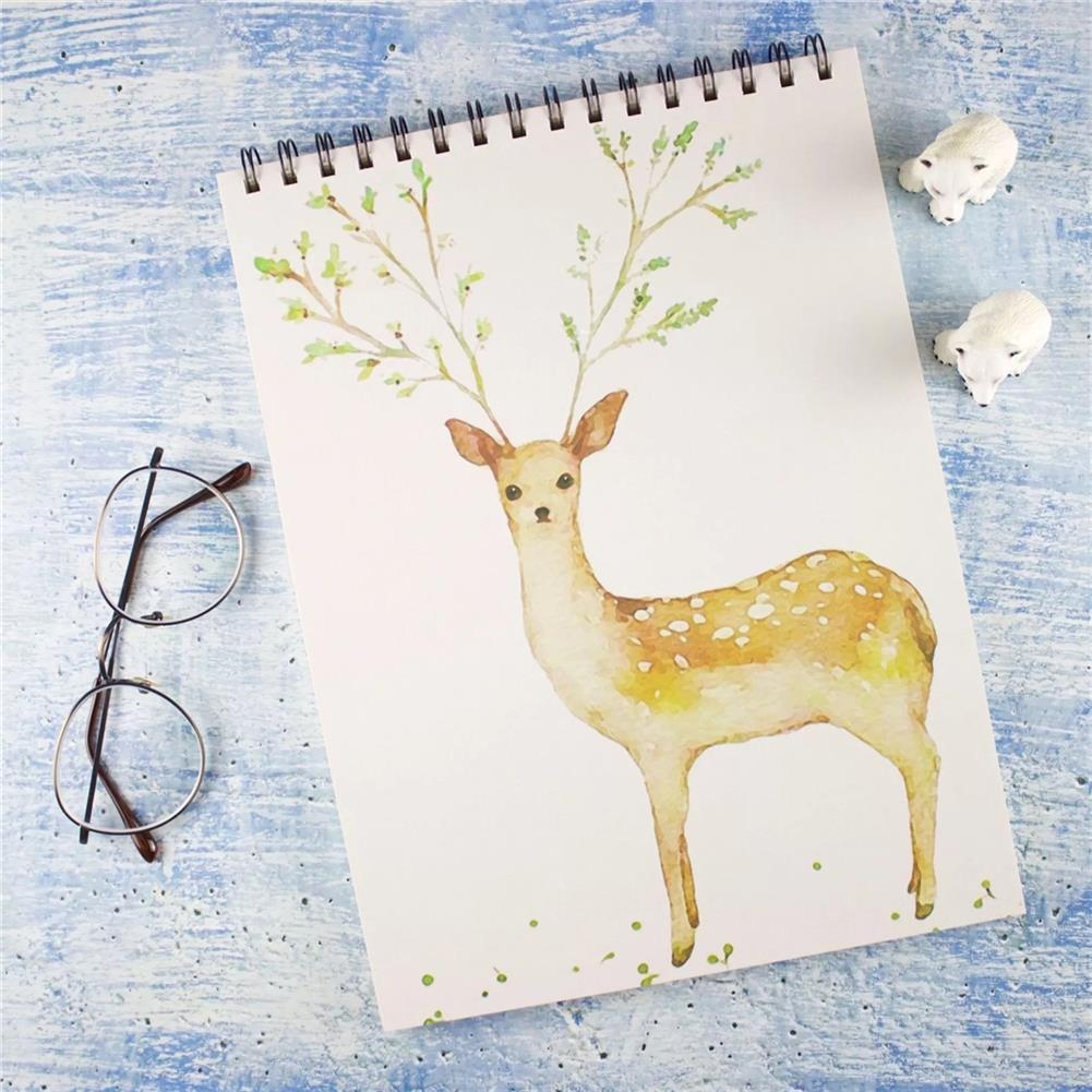 paper-notebooks A4 Sketch Book Blank Drawing Papers Art Painting Graffiti Color Book School Stationery Creative Gift for Childrens HOB1778683 1 1