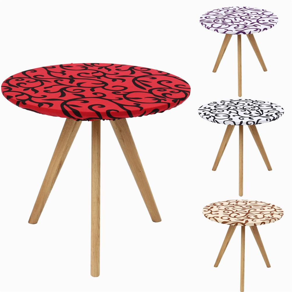 desktop-off-surface-shelves 60*60cm Round Table Cover Elastic Edge Waterproof Fitted Kitchen Printing Pattern Tablecloth Outdoor Mat Decoration HOB1778815 1