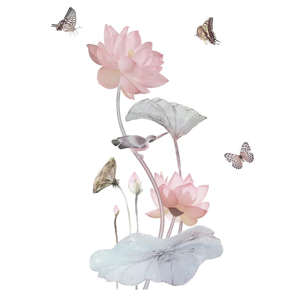 other-learning-office-supplies 3D Flower Wall Sticker Removable Waterproof PVC Wall Background Decorative Paper Wallpaper Home office DIY Decoration HOB1779306 1