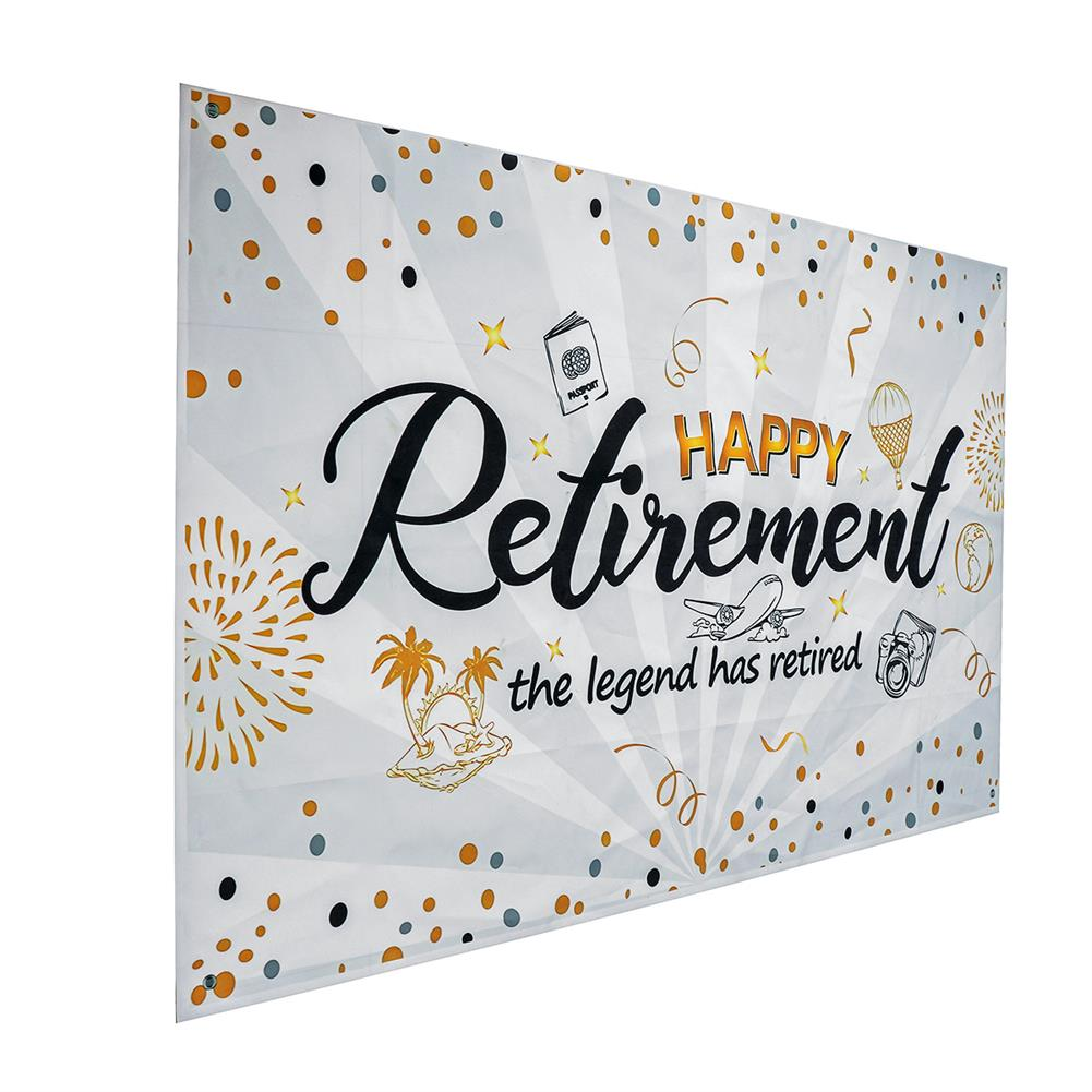 other-learning-office-supplies Wall Hanging Tapestry Happy Retirement Photography Backdrop Retirement Party Supplies Favors Gifts Decorations HOB1779405 2 1