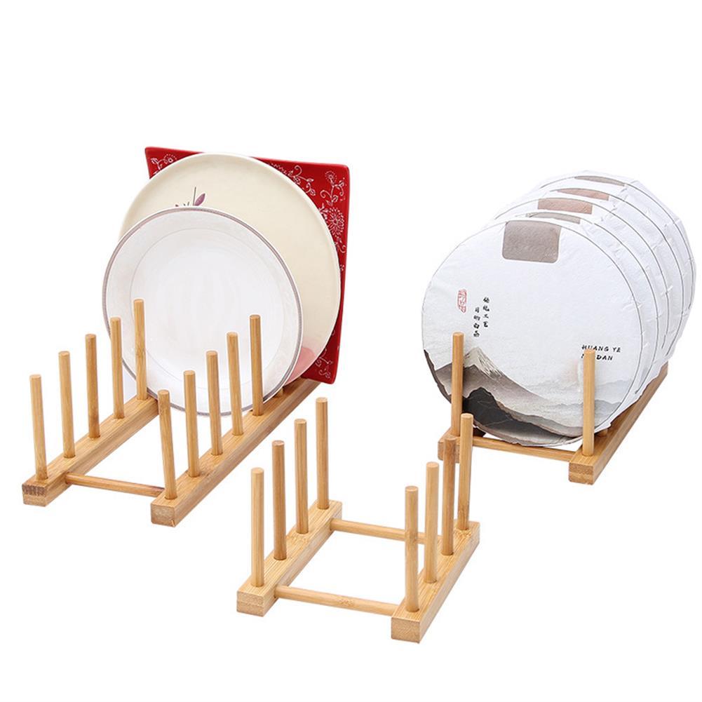 desktop-off-surface-shelves Multi Function Bamboo Dish Rack 3/5/6/8 Grid Drying Drainer Storage Kitchen Cabinet Organizer Accessories Display Shelf HOB1779551 1 1
