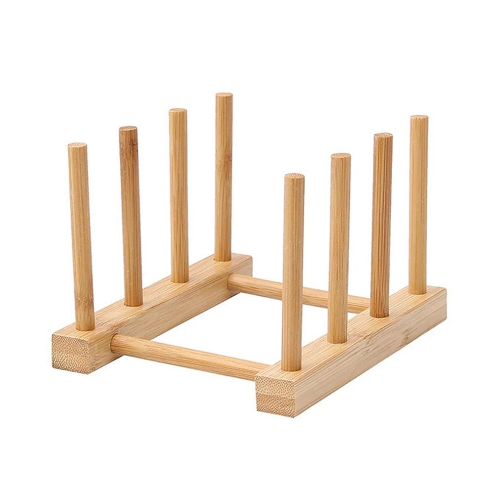 desktop-off-surface-shelves Multi Function Bamboo Dish Rack 3/5/6/8 Grid Drying Drainer Storage Kitchen Cabinet Organizer Accessories Display Shelf HOB1779551 3 1