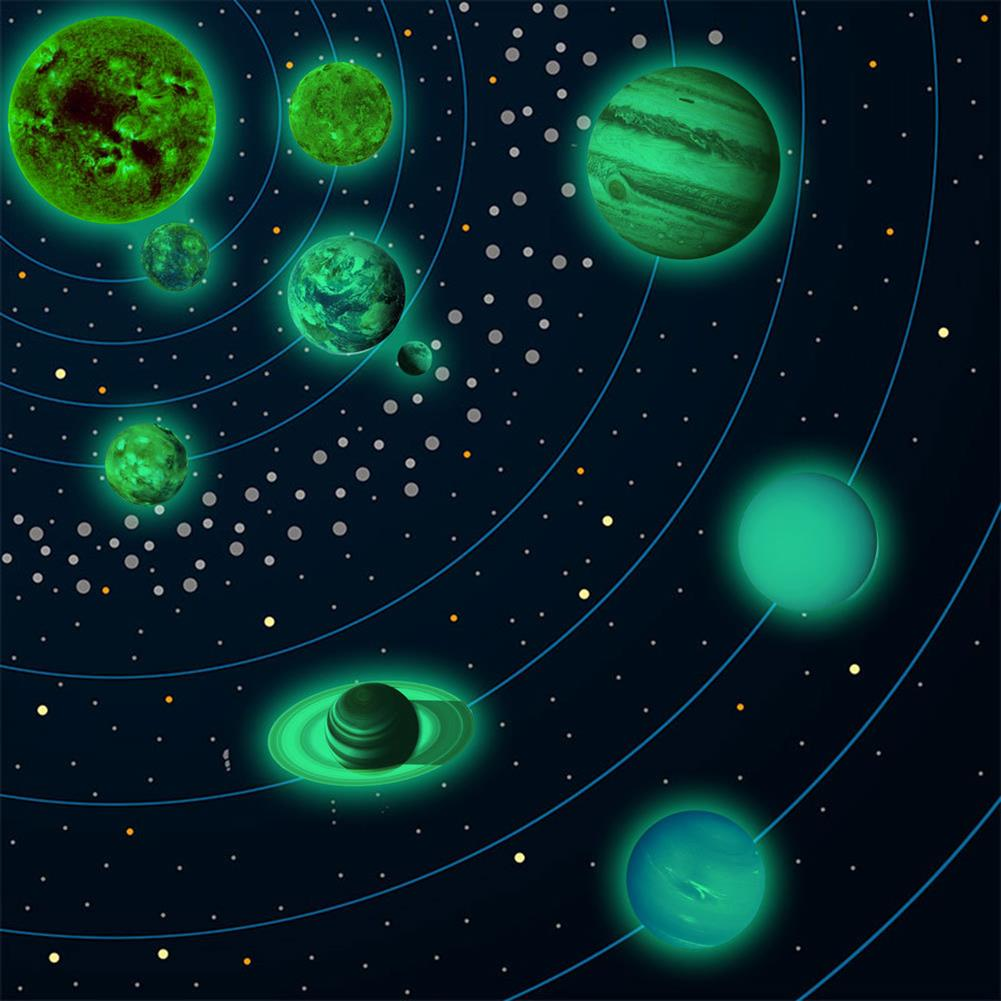 other-learning-office-supplies Solar System Luminous Stickers Nine Planets Self Adhesive Fluorescent Stickers for Kids Baby Bedroom Home Wall Decor HOB1779712 1 1