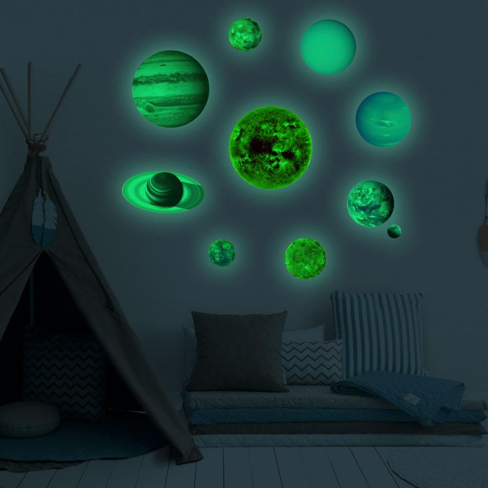other-learning-office-supplies Solar System Luminous Stickers Nine Planets Self Adhesive Fluorescent Stickers for Kids Baby Bedroom Home Wall Decor HOB1779712 2 1