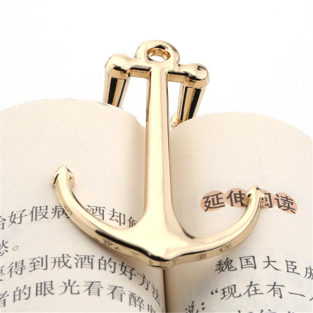 stamp-bookmark Anchor Bookmarks Creative 3D Foldable Metal Page Holder for Students Stationery Gifts School office Supplies HOB1780742 1