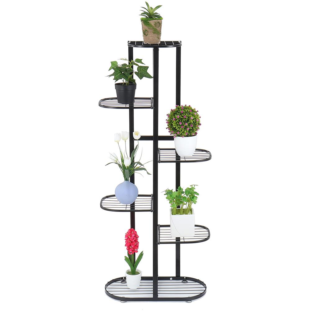 book-stands Simple indoor Flower Rack Potted Shelf Multi-layer Iron Plant Stand Lobby Display Flower Rack for Living Room Balcony HOB1780798 1