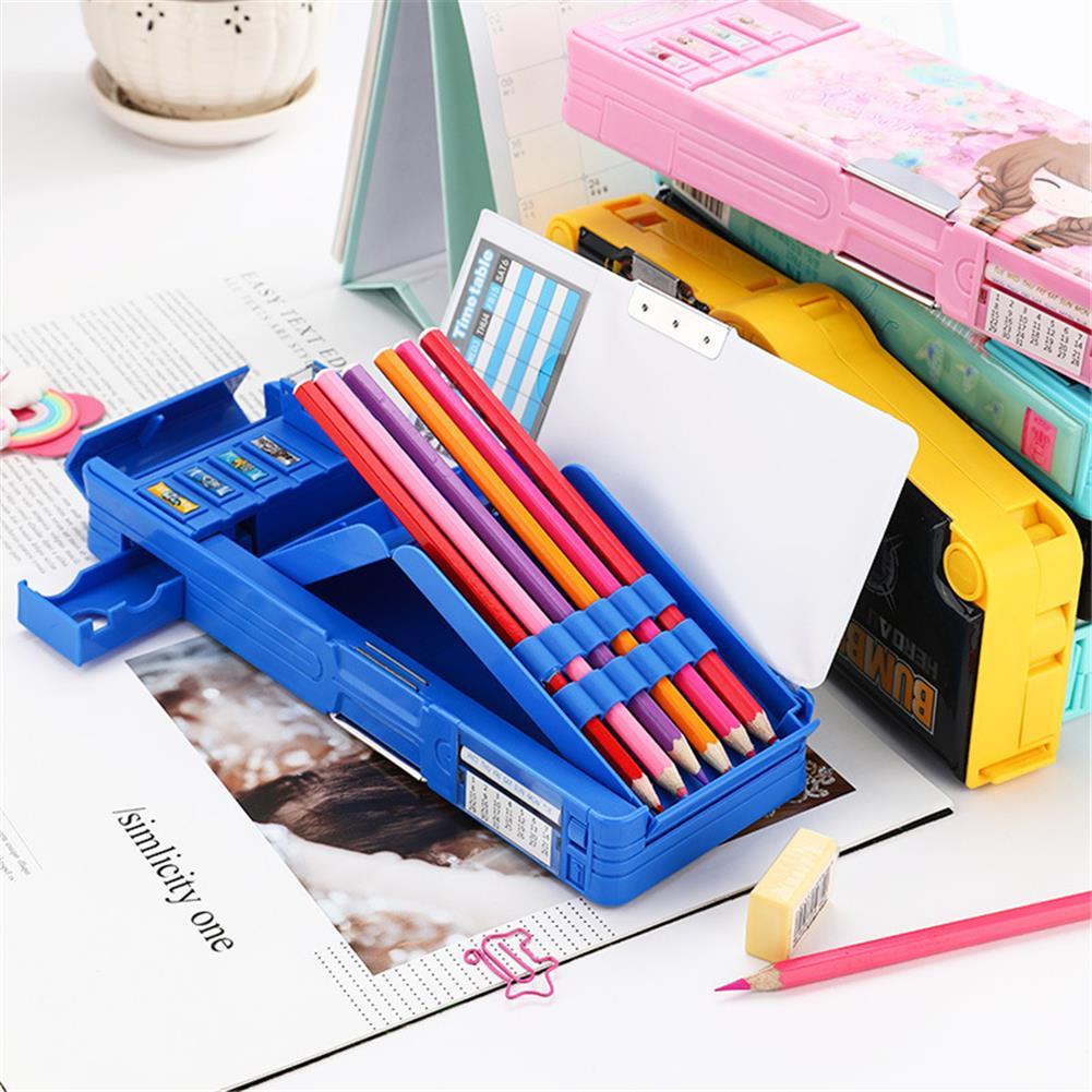 pencil-case Single Sided Pencil Case Cartoon Pattern Pen Case Holder Multifunction Large Capacity Stationery office School Storage Bag HOB1780841 2 1
