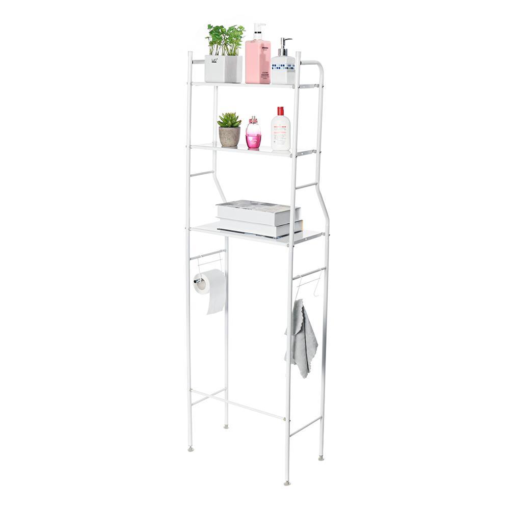 desktop-off-surface-shelves 3 Tiers Over Toilet Rack Over Washing Machine Rack Kitchen Bathroom Storage Shelf Space Saving Organizer Bath Towels Shampoo Shower Gel Holder HOB1781229 1 1