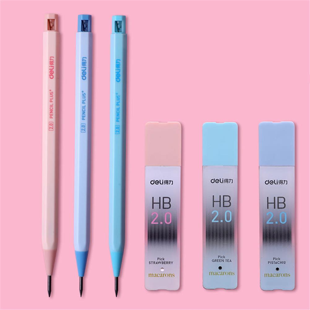 pencil Deli 58800 2.0 2B/HB Graphite Lead Automatic Pencil Replacement Core Mechanical Pencil Refill School office Supplies HOB1781234 1