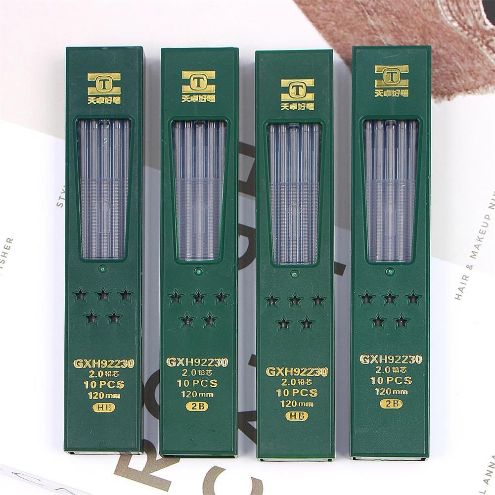 pencil TIZO GXH92230 2.0 2B/HB Graphite Lead 10pcs/box Automatic Pencil Replacement Core Mechanical Pencil Refill for School office Use HOB1781334 1 1